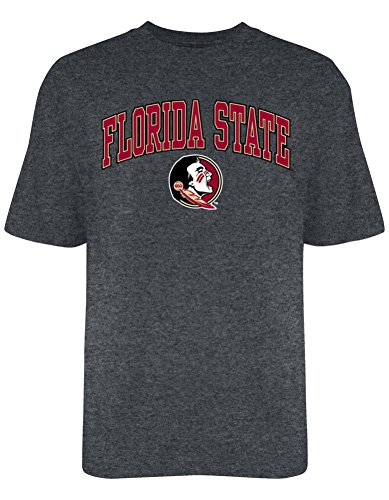 Elite Fan Shop Florida State Seminoles T Shirt Varsity Charcoal - L