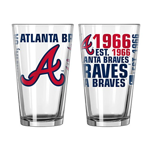 Atlanta Braves Glass - Atlanta Braves Spirit Pint Glass (Set of 2)