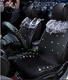 Mujer 's Auto cubre cojines del asiento delantero y trasero, 5 asientos set completo respaldo...
