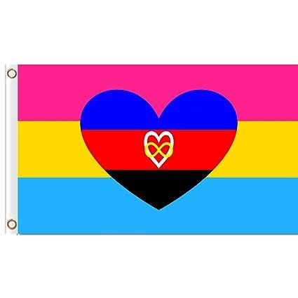 Amazon com : EKRIXI Polyamory Flag 96cm X 144cm : Garden
