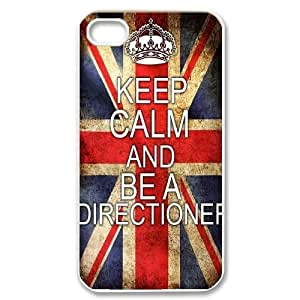wugdiy Custom Case for iPhone 4,4S with Personalized Design One Direction