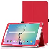 MoKo Samsung Galaxy Tab E 9.6 Case - Slim Folding Cover for Samsung Galaxy Tab E Wi-Fi / Tab E Nook 9.6-Inch Tablet Verizon 4G LTE Version, RED (NOT FIT Tab E 8.0 inch Tablet)