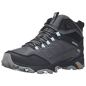 Merrell Women's Moab FST Mid Waterproof Hiking Boot, Granite, 10 M US