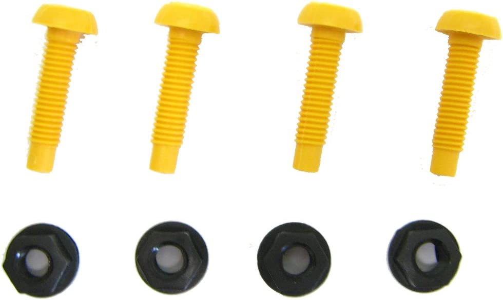 Number Plate Screws /& Nuts Yellow QTY 100 Pairs
