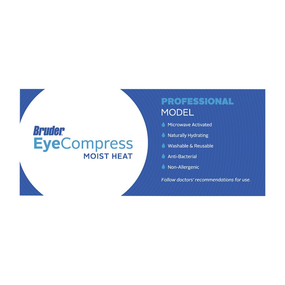 Bruder Eye Compress Moist Heat Professional Model (3-Pack) by Bruder