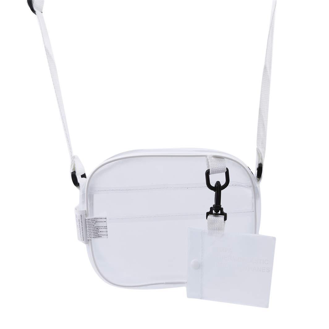 YouCY Shoulder Bag Mini Clear Cross Body Messenger Shoulder Bag PVC Transparent Tote Bag Matte Zippered Messenger Bag Clutch