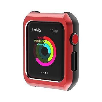 tianranrt Marco magnético reloj funda carcasa Cover magnético reloj Carcasa para Apple Watch Series 1/2/3 38/42 mm, Rojo, 42MM: Amazon.es: Bricolaje y ...