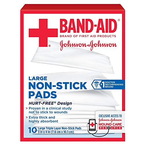 Johnson & Johnson Red Cross First Aid Triple Layer Non-Stick Pads 3 X 4 - 10 ct, Pack of ()