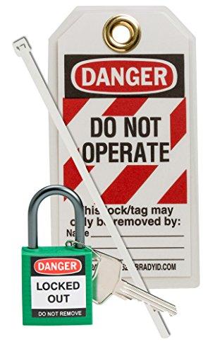 Brady 123144 Compact Lock Personal Kit, Green by Brady