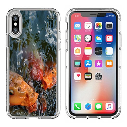 Luxlady Apple iPhone X Clear case Soft TPU Rubber Silicone Bumper Snap Cases iPhoneX IMAGE ID 218490 Fishes with hunger - Hunger Snap