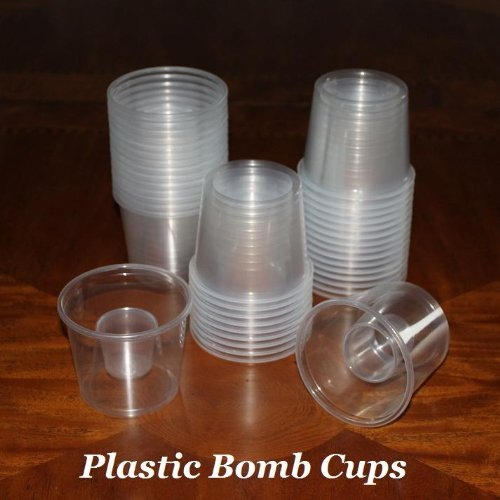 Clear Disposable Plastic Power Bomber Shot Cups Or Bomb
