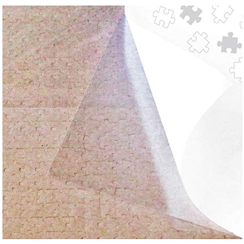 Puzzle EZ Clear Puzzle Saver Peel and Stick Puzzle Glue Sheets Extra Large Transparent Adhesive Backing Sheets Puzzle Preserver for Framing 5 Puzzles 20 Sheets