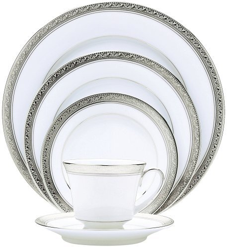 Noritake Crestwood Platinum 20-Piece Dinnerware Place Setting Service for 4 by Noritake