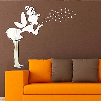 JY$ZB Hechizo pared decoración casa espejo pared pegatinas DIY 3D ...