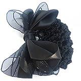 usongs New Juan yarn hair accessories stewardess Bank Hotel Portal word hairpin spring bow career head flower thin string bag
