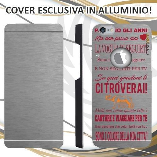 CUSTODIA COVER CASE CORO ULTRAS ROMA PER IPHONE 6S ALLUMINIO TRASPARENTE