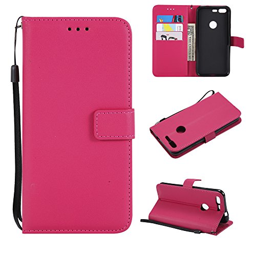 Price comparison product image AICEDA Google Pixel - Protective Women Back Shell Leather Case / Cover / Bumper / Skin / Cushion - Fashion Art Collection (Rosy)