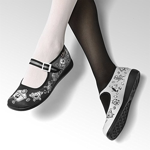 Hot Chocolate Design Chocolaticas Cartoon Womens Mary Jane Flat Multicoloured dIcQUm9