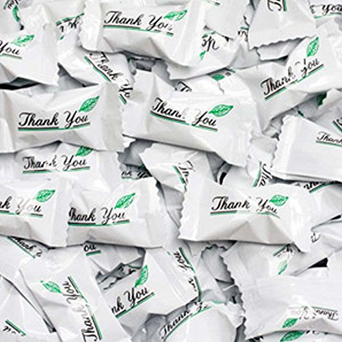 Birthday Buttermint Creams - Thank You Wrapped Buttermint Creams 50 Count