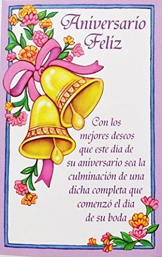 Aniversario Feliz - Happy Wedding Anniversary Greeting Card in Spanish -