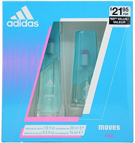 ADIDAS MOVES - COTY SET ( EDT SPR 1.0 oz + EDT SPR 0.5 oz (Adidas Set Edt Spray)