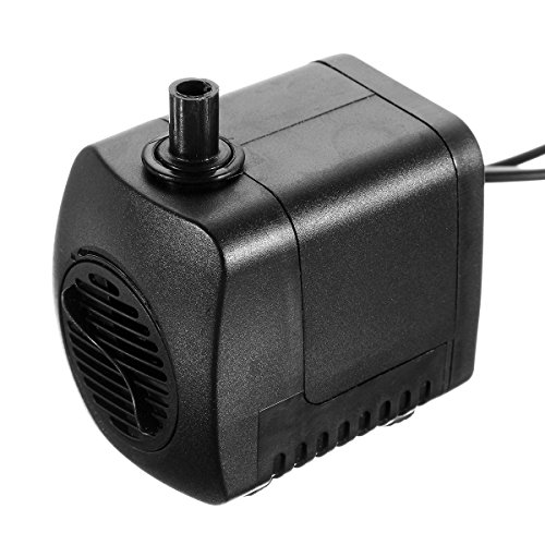220V 800L/H Submersible Pump Aquarium Fountain Pool Water Pump + 12 LED Light