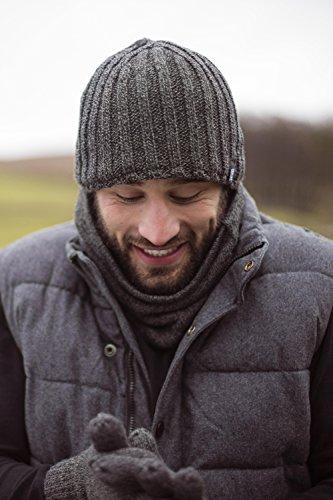 tamaño 4 de hombre Holders sombrero acanalado forrado de Gris TOG de invierno Un polar 3 punto Heat x7ZApx