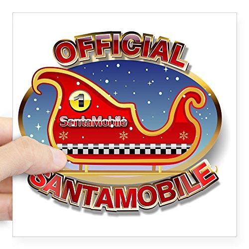 (CafePress Santa's Magic Sleigh Square Sticker 3