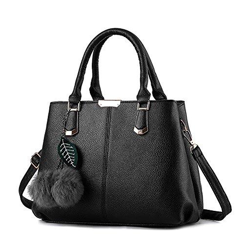 borsa Spalla G Borse Tote Handbag Shoulder Bag a pelle AVERIL Borsa PU Donna in a nero Donna Bag mano pFv8xqwrp