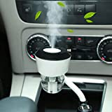 WEKSI Car Ultrasonic Air Humidifier Car Aromatherapy Essential oil Diffuser with Double USB Port Suitable for Iphone 6s/plus/5s or Other Mobile Phone,Tablet/Gps/Kindle (Black)