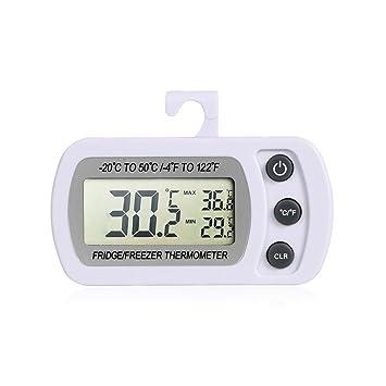 Termómetro Digital para refrigerador, omgar congelador termómetro con pantalla LCD y gancho, rango de