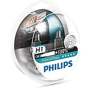 Philips X-treme Vision up to 130% Headlight Bulbs H1 55W