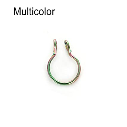 Fake Septum Clip On Non Piercing Swirls Septum Nose Ring Faux Women Jewelry