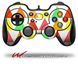 Triangles Citrus - Decal Style Skin fits Logitech F310 Gamepad Controller (CONTROLLER SOLD SEPARATELY)