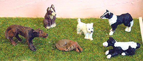 (Langley Models Animals 7 Dogs O Scale UNPAINTED Metal Model Kit L30)