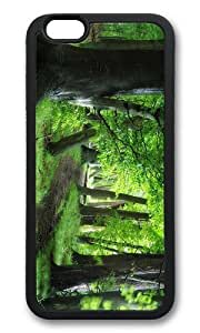 MOKSHOP Adorable green forest path Soft Case Protective Shell Cell Phone Cover For Apple Iphone 6 (4.7 Inch) - TPU Black