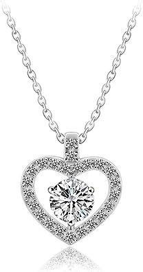 Venianus - Collar con Colgante de corazón para Mujer, con Cadena, Estuche para Joyas, Regalo para la Mejor Amiga: Amazon.es: Joyería