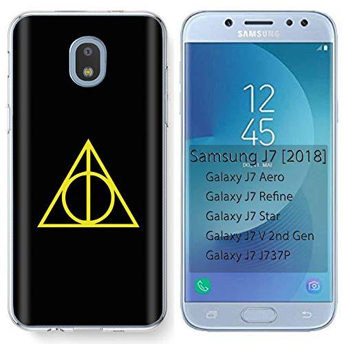 [Mobiflare] Samsung Galaxy (J7 2018) (J737) [J7 Aero / J7 Star / J7 Refine / J7 Top,] Ultraflex Thin Gel Phone Cover [Pyramid Secret Society Print]