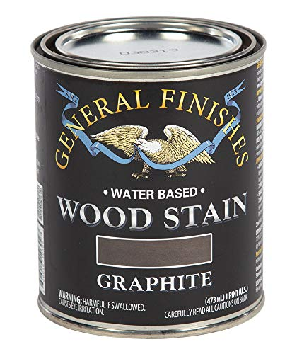 General Finishes WJPT Water Based Wood Stain, 1 Pint, - Graphite Finish