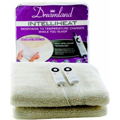 Dreamland 6968 King Protector de colchón doble forro polar suave eléctrica seleccione número 6 en el control para activar la listo para cama en 10 minutos ...