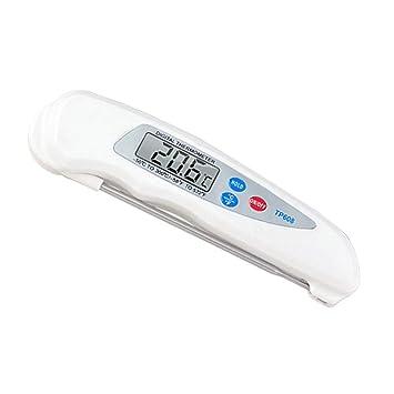 BESTONZON Termómetro de Alimentos Digital Plegable para Carnes Dulces Asados Líquido (Blanco): Amazon.es: Hogar