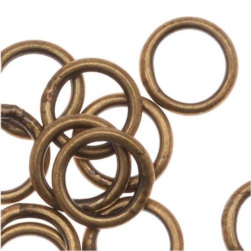 Beadaholique Antiqued Brass Closed 7mm Jump Rings 18 Gauge (20)