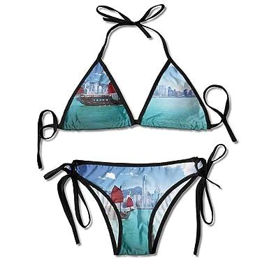 Amazon.com: Bañador para niñas bajo el puerto, diseño de ...