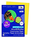 Pacon SunWorks Construction Paper, 9-Inches by 12-Inches, 50-Count, Yellow (8403)