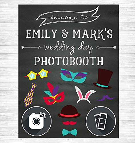 Chicago Booth Chalk - Dozili Wedding Photobooth Sign Chalkboard Wedding