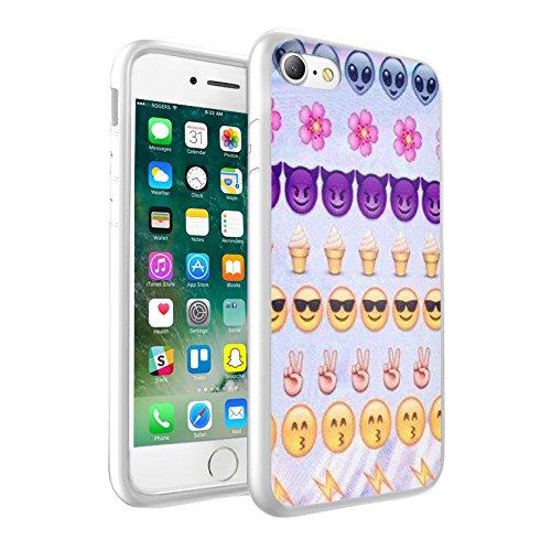 iPhone X étui Peau de couverture, Protection unique personnalisée couverture rigide mince Thin Fit PC Étui de protection résistant aux rayures Couverture pouriPhone X - Emoji 0023