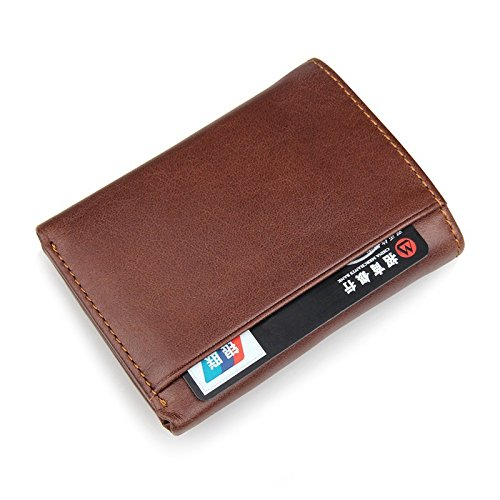 Wallet Homme Vintage color Brown Brown c Anti Rfid En Shield Cuir Court Size b balayage S Portefeuille YdU5qd