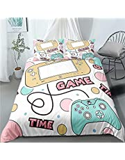 Gaming Bedding Sets Twin for Boys,Game Duvet Cover Set for Kids Teens, Video Game Comforter Cover,3 Piece Gamer Controller Bed Cover Set (1 Duvet Cover +2pillowcases)
