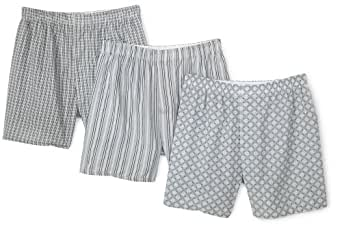 Fruit of the Loom Men's Assorted Print Woven Boxers(Pack of 3) - Multi - Small