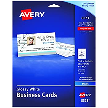 amazoncom avery glossy photo quality business cards for